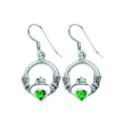 cc7127781f933 CE4415 STERLING SILVER EARRING WITH STONE – BLAKE SLC